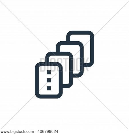 cards icon isolated on white background from mental health collection. cards icon thin line outline
