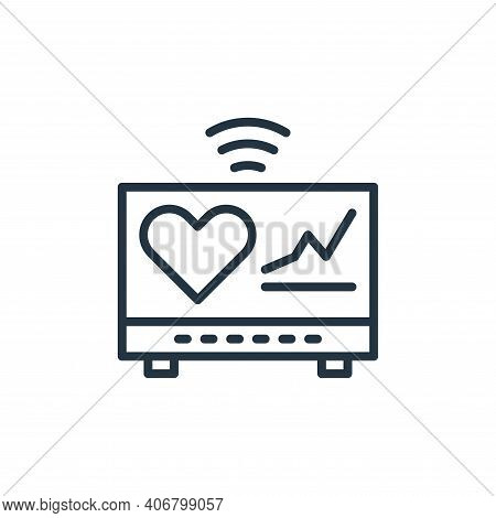 cardiogram icon isolated on white background from internet of things collection. cardiogram icon thi