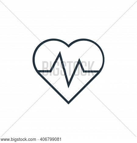 cardiogram icon isolated on white background from medical tools collection. cardiogram icon thin lin
