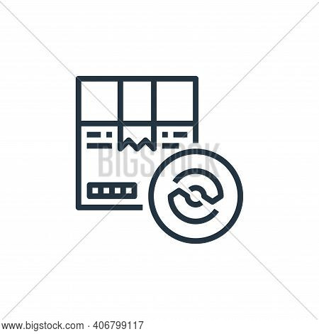 cardboard box icon isolated on white background from recycling collection. cardboard box icon thin l