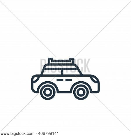 car icon isolated on white background from motorway collection. car icon thin line outline linear ca