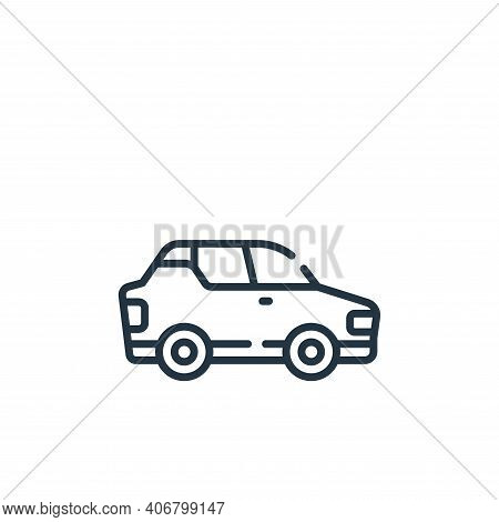 car icon isolated on white background from free time collection. car icon thin line outline linear c
