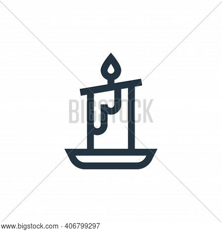 candle icon isolated on white background from alternative medicine collection. candle icon thin line