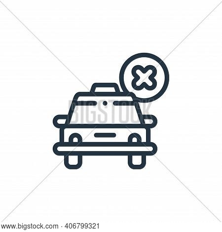 cancelled icon isolated on white background from taxi service collection. cancelled icon thin line o