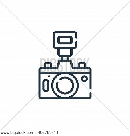 camera icon isolated on white background from free time collection. camera icon thin line outline li