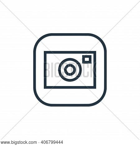camera icon isolated on white background from hardware and gadgets collection. camera icon thin line