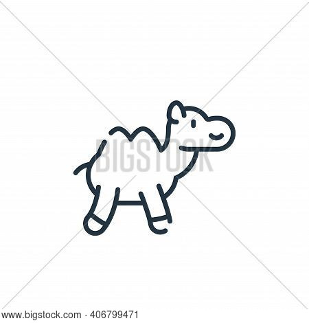 camel icon isolated on white background from ramadan collection. camel icon thin line outline linear