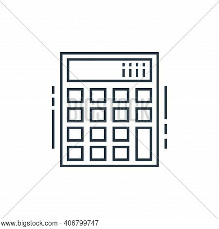 calculator icon isolated on white background from technology devices collection. calculator icon thi