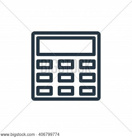 calculator icon isolated on white background from technology collection. calculator icon thin line o