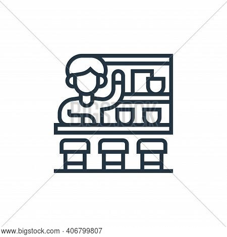 cafe icon isolated on white background from railway collection. cafe icon thin line outline linear c