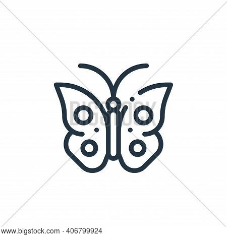 butterfly icon isolated on white background from ecology collection. butterfly icon thin line outlin