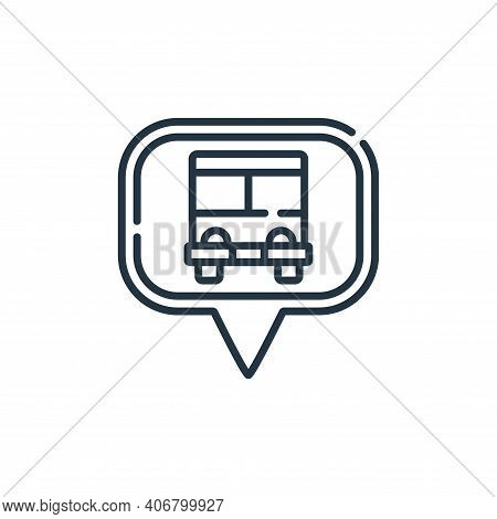 bus stop icon isolated on white background from navigation and maps collection. bus stop icon thin l