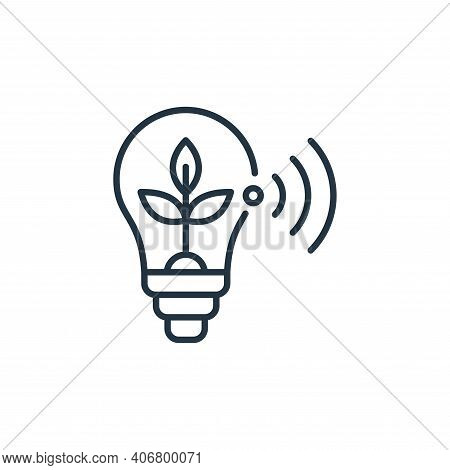 bulb icon isolated on white background from smart farm collection. bulb icon thin line outline linea