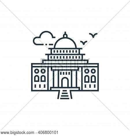building icon isolated on white background from tourism collection. building icon thin line outline