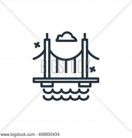 bridge icon isolated on white background from world monument collection. bridge icon thin line outli