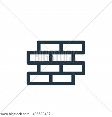 brick wall icon isolated on white background from labour day collection. brick wall icon thin line o