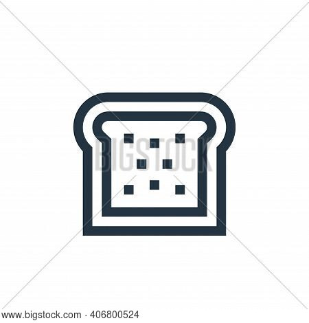 bread icon isolated on white background from vegan collection. bread icon thin line outline linear b