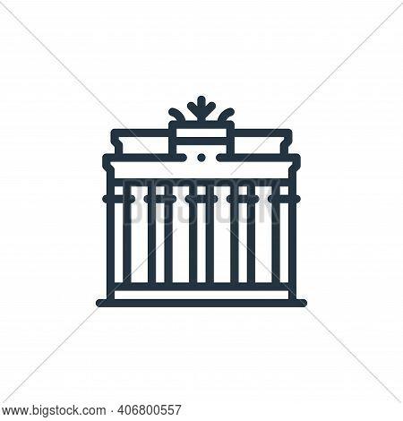 brandenburg gate icon isolated on white background from europe collection. brandenburg gate icon thi