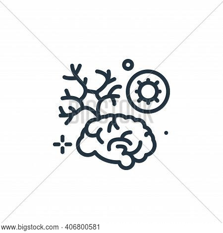 brain icon isolated on white background from coronavirus collection. brain icon thin line outline li