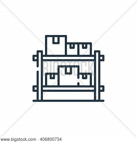 boxes icon isolated on white background from industrial process collection. boxes icon thin line out