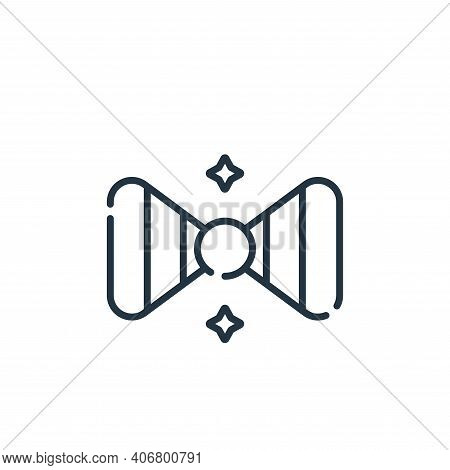 bow tie icon isolated on white background from circus collection. bow tie icon thin line outline lin