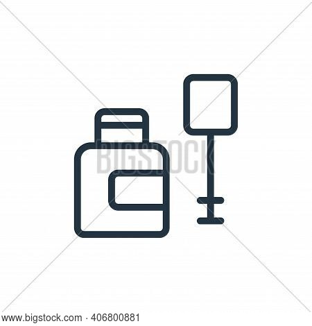 bottle icon isolated on white background from work office supply collection. bottle icon thin line o