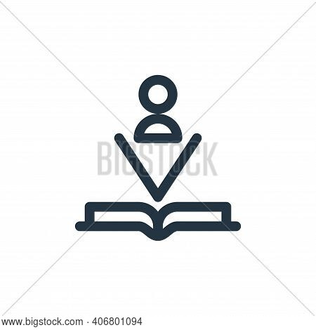 book icon isolated on white background from technology of the future collection. book icon thin line