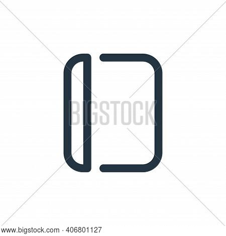 book icon isolated on white background from school collection. book icon thin line outline linear bo