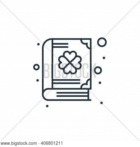 book icon isolated on white background from saint patrick collection. book icon thin line outline li