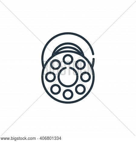 bobbin icon isolated on white background from sewing collection. bobbin icon thin line outline linea