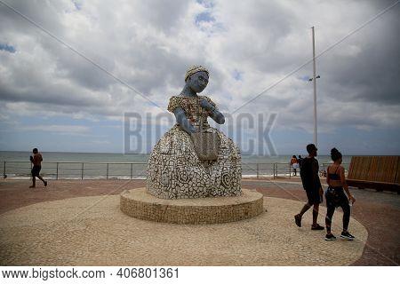 Sculpture Of Baiana In Salvador