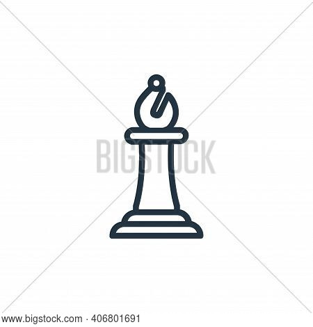 bishop icon isolated on white background from chess game collection. bishop icon thin line outline l
