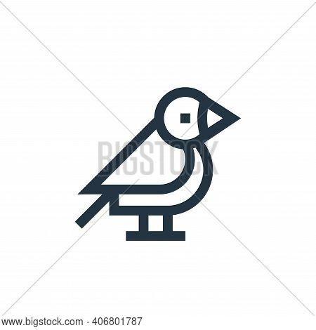 bird icon isolated on white background from pet shop collection. bird icon thin line outline linear