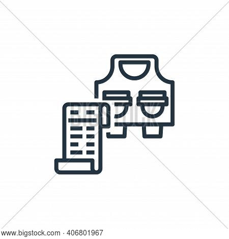 bill icon isolated on white background from food delivery collection. bill icon thin line outline li