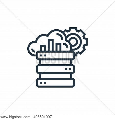 big data icon isolated on white background from data analytics collection. big data icon thin line o