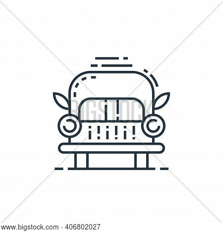 bench icon isolated on white background from environment and eco collection. bench icon thin line ou