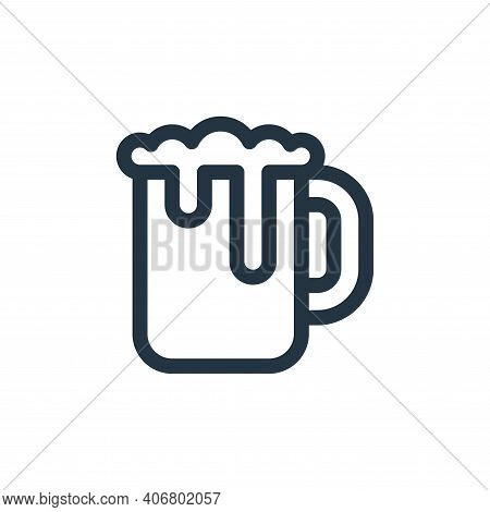 beer mug icon isolated on white background from europe collection. beer mug icon thin line outline l