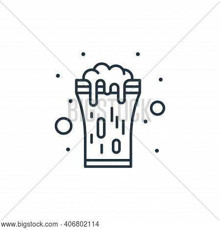beer icon isolated on white background from saint patrick collection. beer icon thin line outline li