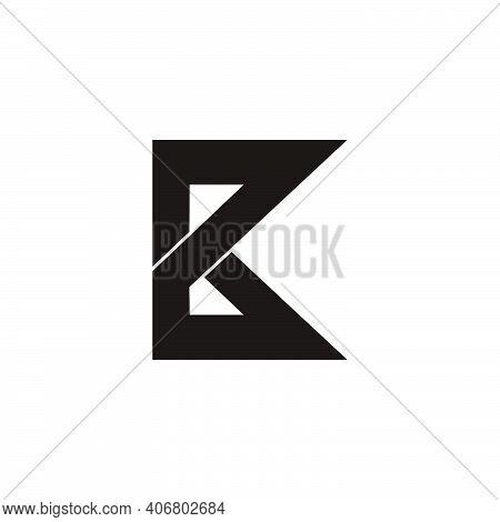 Abstract Letter Pk Geometric Line Logo Vector