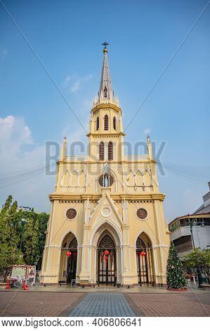 Bangkok/thailand-19 Jan 2020:the Holy Rosary Church, Also Known As Kalawar Church, Is A Roman Cathol