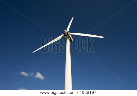 Windmill Against The Blue Sky