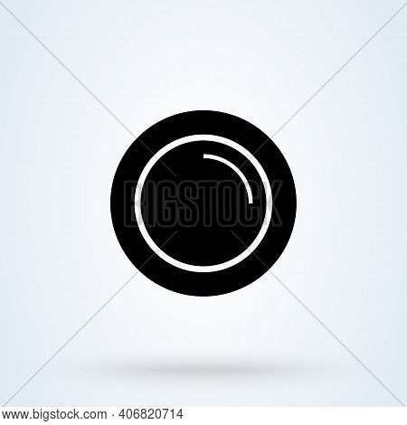 Plates Sign Icon Or Logo. Plate Of Food Concept. Restaurant Plates App Vector Illustration.