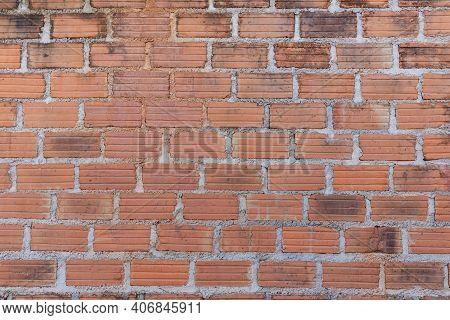 Brick Wall For Interior Exterior Decoration. Brick Wall For Industrial Construction Design. Brick Wa