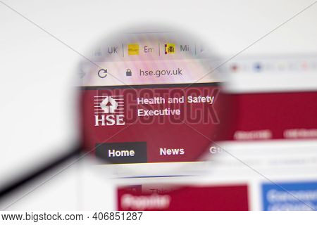 Los Angeles, Usa - 1 February 2021: Hse Health And Safety Executive Website Page. Hse.gov.uk Logo On
