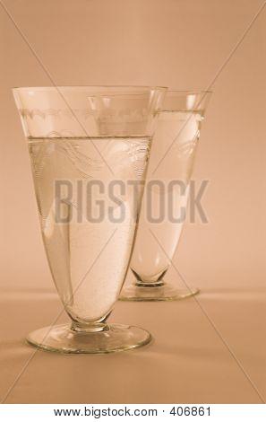 Art Deco Water Glasses