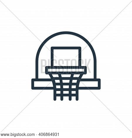 basketball icon isolated on white background from hobbies collection. basketball icon thin line outl