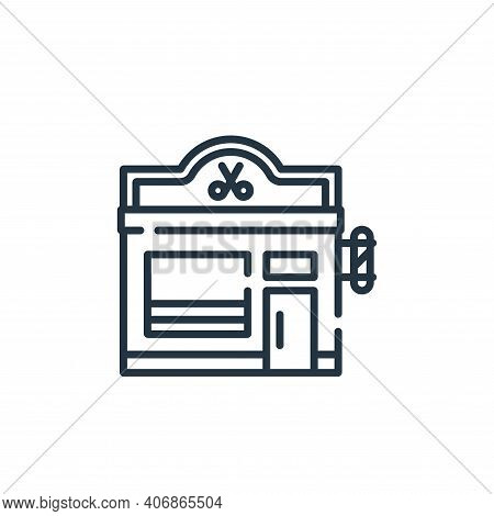 barbershop icon isolated on white background from hairdressing and barber shop collection. barbersho
