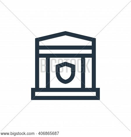 bank icon isolated on white background from insurance collection. bank icon thin line outline linear