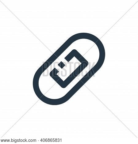 bandage icon isolated on white background from medical collection. bandage icon thin line outline li