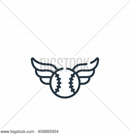 ball icon isolated on white background from baseball collection. ball icon thin line outline linear